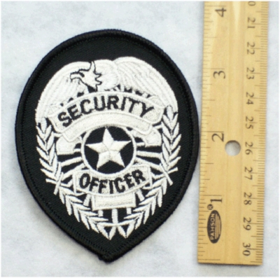 SECURITY OFFICER BADGE PATCH - Embroidery Patch