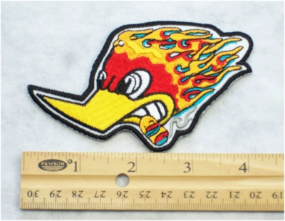 217 N - RACING WOODPECKER - EMBROIDERY PATCH