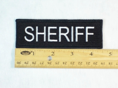 168 L - SHERIFF PATCH - Embroidery Patch