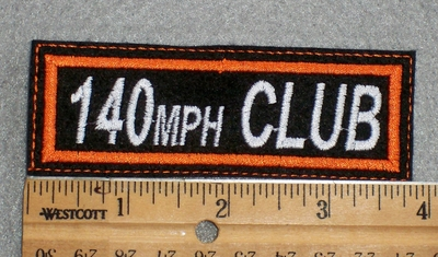 1582  L - 140 MPH Club - Embroidery Patch