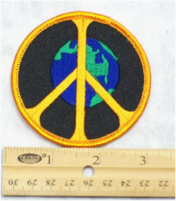 229 N - PEACE ON EARTH - EMBROIDERY PATCH