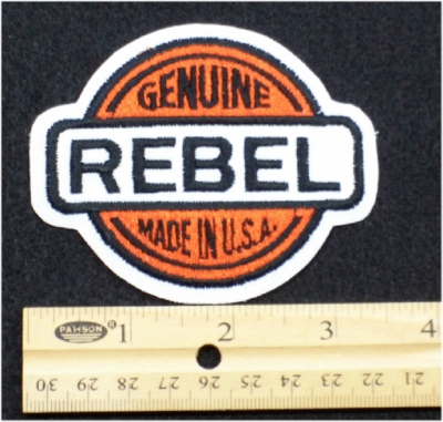 237 N - GENUINE REBEL - EMBROIDERY PATCH