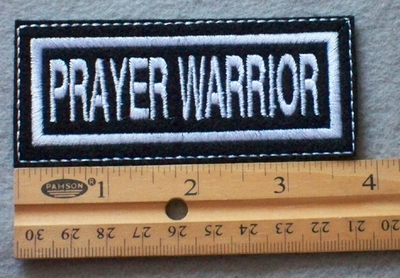 907 L - Prayer Warrior Embroidered Patch