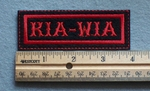 1083 L - KIA - WIA Embroidery Patch - Red Border Red Letters