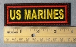 970 L - US Marines Embroidery Patch - Red Border Yellow Letters