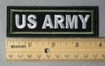 968 L - US Army Embroidery Patch - Green Border White Letters