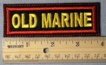 959 L - Old Marine Embroidery Patch - Red Border Yellow Letters