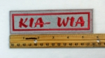 289 L - KIA - WIA Patch - Embroidery Patch