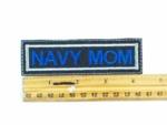 602 L - NAVY MOM PATCH - Embroidery Patch