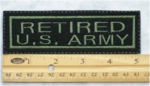 655 L - RETIRED US ARMY PATCH - Embroidery Patch