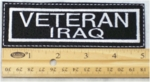 675 L - VETERAN IRAQ PATCH - Embroidery Patch