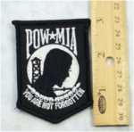 627 W - POW MIA SHIELD BLACK