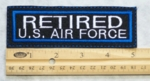 654 L - RETIRED US AIR FORCE PATCH - Embroidery Patch
