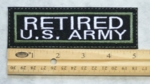 656 L - RETIRED US ARMY PATCH - Embroidery Patch