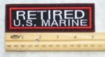 658 L - RETIRED US MARINE PATCH - Embroidery Patch