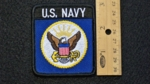 672 R - US NAVY PATCH - Embroidery Patch