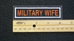 294 L - MILITARY WIFE PATCH - Embroidery Patch
