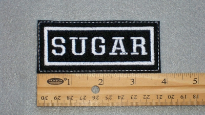 189 L - SUGAR - EMBROIDERY PATCH - WHITE