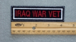 282 L - IRAQ WAR VET - Embroidery Patch