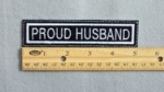 652 L - PROUD HUSBAND - Embroidery Patch