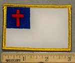 2085 W - Christian Flag - Embroidery Patch