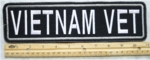 "410 L - VIETNAM VET 11"" - EMBROIDERY PATCH"