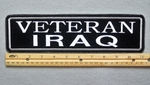 "446 L - VETERAN IRAQ 11"" - EMBROIDERY PATCH - WHITE - FREE SHIPPING!"
