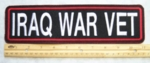 411 L - IRAQ WAR VET - 11 INCH - EMBROIDERY PATCH