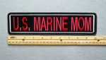 "434 L - US MARINE MOM 11"" - EMBROIDERY PATCH - WHITE AND RED - FREE SHIPPING!"