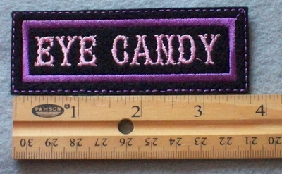856 L - Eye Candy Embroidered Patch