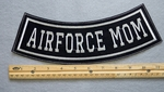 344 L - AIRFORCE MOM BOTTOM ROCKER - EMBROIDERY PATCH - WHITE - FREE SHIPPING!