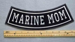 341 L - MARINE MOM BOTTOM ROCKER - EMBROIDERY PATCH - FREE SHIPPING!