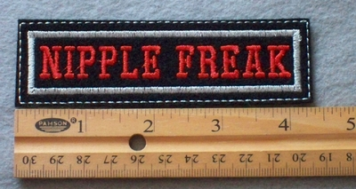 909 L - Nipple Freak -  Embroidery Patch