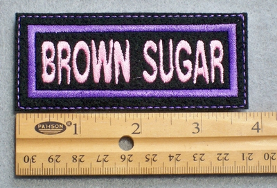 723 L - Brown Sugar Embroidered Patch