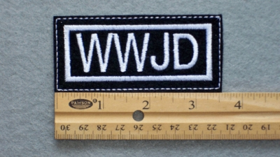 679 L - WWJD - Embroidery Patch
