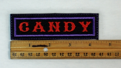 150 L - CANDY - EMBROIDERY PATCH