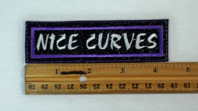 154 L - NICE CURVES SPARKLE - EMBROIDERY PATCH