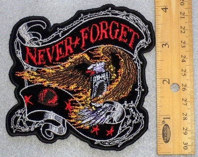 24 G - NEVER FORGET SMALL PATCH - FREE SHIPPING!