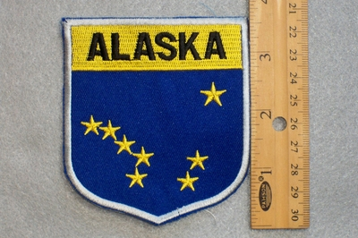 ALASKA STATE FLAG SHIELD - EMBROIDERY PATCH