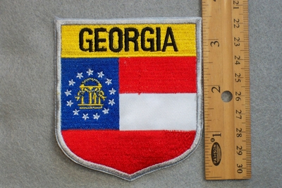 GEORGIA STATE FLAG SHIELD - EMBROIDERY PATCH