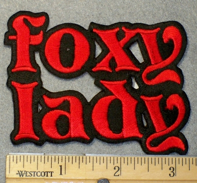 1545 N - Foxy Lady - Embroidery Patch