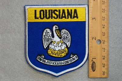LOUISIANA STATE FLAG SHIELD - EMBROIDERY PATCH