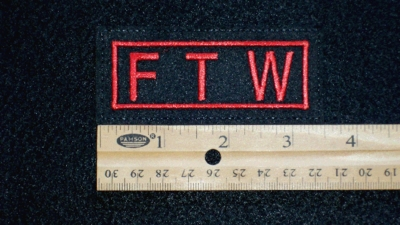 547 L - FTW - EMBROIDERY PATCH - RED