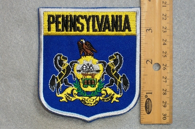 PENNSYLVANIA STATE FLAG SHIELD - EMBROIDERY PATCH