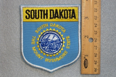 SOUTH DAKOTA STATE FLAG SHIELD - EMBROIDERY PATCH