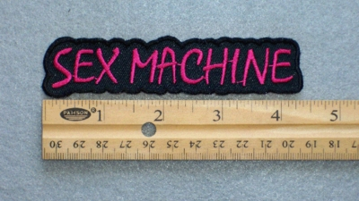 556 N - SEX MACHINE - EMBROIDERY PATCH