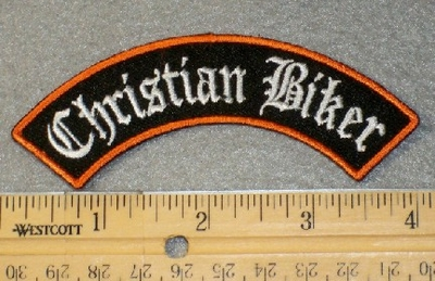 Christian Biker - Mini Rocker - Embroidery Patch