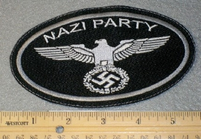 1810 L - Nazi Party - Oval - Embroidery Patch