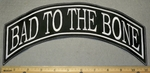 2118 L - Bad To The Bone Top Rocker - Embroidery Patch
