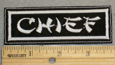 2110 L - Chief- Embroidery Patch
